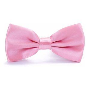 Boys Pink Satin Bow Tie